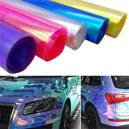 $enCountryForm.capitalKeyWord NZ - 30X60CM Car Styling Chameleon Headlight Taillight Vinyl Tint Car Sticker Light Film Protect Wrap Light Accessories
