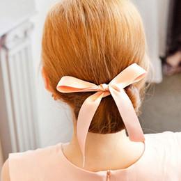hair accessories shops 2019 - Flannel ball head hair styling versatile ribbon bow hair band Korean new hair accessories wholesale 2 yuan shop cheap ha