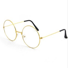 Models Glasses Australia - Harajuku glasses frame men and women tide models ultra light decorative frame round retro metal flat glasses Prince mirror Glass hot selling