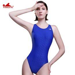 $enCountryForm.capitalKeyWord Australia - Yingfa Fina Approved One Piece Training Competition Waterproof Sharkskin Resistant Women's Swimwear Plus Size Bathing Suits Y19062901