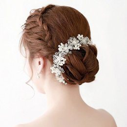 Chinese  Glass crystal craft bride hair summer picture taken the bride headdress wedding supplies wholesale and foreign trade manufacturers
