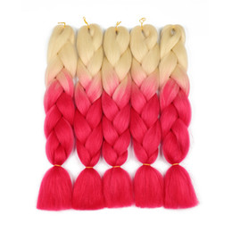 $enCountryForm.capitalKeyWord Australia - Ombre Two Colors Synthetic Xpression Braiding Hair 24inches 100g pack Jumbo Braids Kanekalon Xpression Braiding Hair Crochet Braids Hair