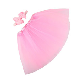 $enCountryForm.capitalKeyWord UK - Girls Clothes Kids Girls Skirt Toddler Baby Kids Girls Solid Tutu Skirt+Bowknot Headband Set Party Dance Clothes jupe fille N27