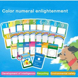 $enCountryForm.capitalKeyWord Australia - Water Painting Graffiti Book Card 26pcs Letter Kids Education Cognitive Toys New Fashion Water Drawing Cards