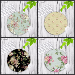 Mouse pads custoM online shopping - Mairuige Small floral Custom DIY Flower Art Print Mouse Pad Anti Slip Round Mousepad Gift Gaming Speed Mice Mats Mouse Mat