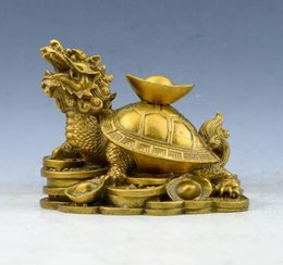 off housing Canada - COPPER STATUE Yuanbao Dragon Turtle Decoration Yuanbao Turtle Recruitment Nafu Town House to ward off evil Fengshui Decoration