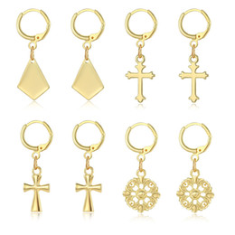 9ba0e84ae87b4 Women Cross Hoop Earrings Online Shopping   Cross Hoop Earrings For ...