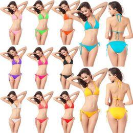 a7ee6a0ec2 Women Lady Swimwear for women swimsuit swimsuits Sexy Bikini for women Beach  clothing Hotsale solid string bikini two piece 11 colors YZ002. US ...