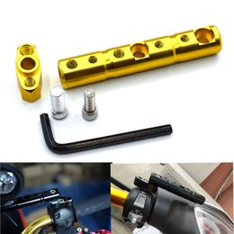 lights for scooters NZ - For Universal motorcycle rear view mirror bracket 8MM 10MM scooter fog light extension bracket rod for Suzuki Kawasaki KTM
