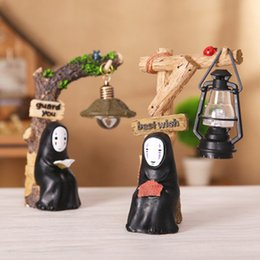 Gift Craft Christmas Ornament Australia - No Face man Miyazaki Ornaments night light Japanese groceries resin Hand made Crafts Study Lamp for Kids Gift Spirited Away