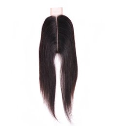 prices closure NZ - 9A Brazilian Virgin Human Hair Wholesale Price Body Wave Straight Hair 2x6 Lace Closure Human Hair Extensions 10-20 Inch