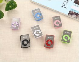 Sport Style Mini Clip MP3 Player 6 colors Support Micro SD TF Card Mp3 Music players Without LCD Screen on Sale