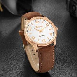 geneva gold watch 2019 - watch women leather strap Fashion Women's Date Geneva Stainless Steel Leather Analog Quartz Wrist Watch montre femm