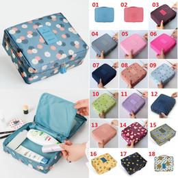 Fresh beauty online shopping - Flower Printed Man Women Makeup Bag Nylon Cosmetic Bag Beauty Case Make Up Organizer Toiletry Bag kits Storage Travel Wash Pouch