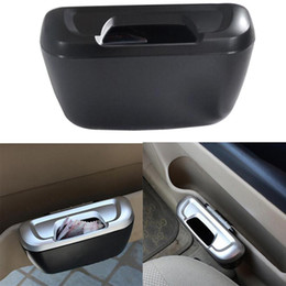 GarbaGe case online shopping - Dewtreetali Type Mini Car Garbage Can Auto Rubbish Trash Can Dust Scraps Paper Case Holder Bin Vehicle Organizer Office Home