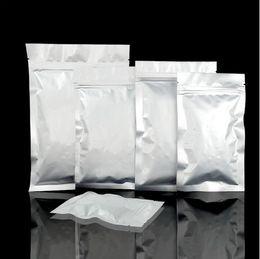 $enCountryForm.capitalKeyWord Australia - 100pcs 13 sizes 6*8cm Small Sliver Self sealing Aluminum Foil Zipper bag Ziplock bags Zip lock packaging Packing food seed