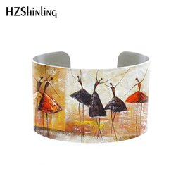 $enCountryForm.capitalKeyWord Australia - abstact painting bangle Original Art Texture Painting tree bracelet dancing Sail Boat Light House Starry Night sun Sky cuff