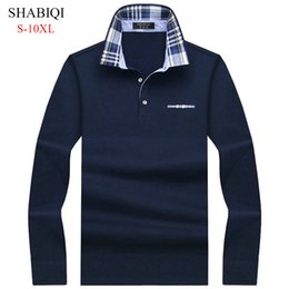 $enCountryForm.capitalKeyWord Australia - Shabiqi Casual Cotton Men Shirt Mens Long Sleeve Solid Polo Shirts Camisa Polos Tops Tees Plus Size 6xl 7xl 8xl 9xl 10xl Q190525