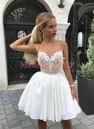 7ada8fa4a9 White lace applique cocktail dress online shopping - Fashion Chiffon Lace  Short Homecoming Dresses Beads Straps