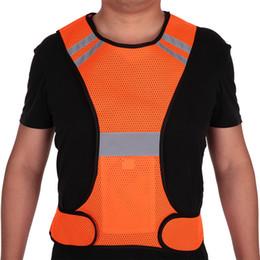 $enCountryForm.capitalKeyWord Australia - Men Mesh Reflective Vest High Visibility Safety Vest Gear for Night Running Walking Cycling Jogging Orange Outdoor Cloth Jacket