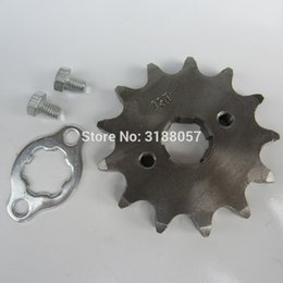 atv plate UK - Front Engine Sprocket 520# 11T-20T 12 13 Teeth 20mm For 520 Chain With Plate Locker Motorcycle Dirt Bike Pit Bike ATV Quad Parts