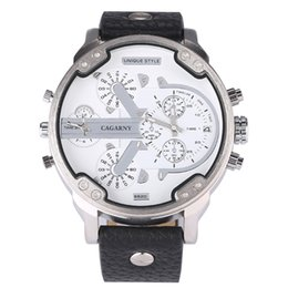 Big Case Wrist Watches Australia - 52MM Big Case Relogio Masculino Cagarny Mens Watches Casual Watch Man Quartz Watches Clock Waterproof Sports Men Wrist Watch New