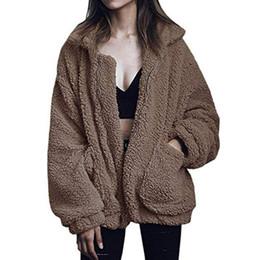 $enCountryForm.capitalKeyWord UK - 2018 New Fashion Winter Women Faux Fur Jacket Black Teddy Coat Female Leather Manteau Femme Hiver Dropshipping Mex Furry Vest