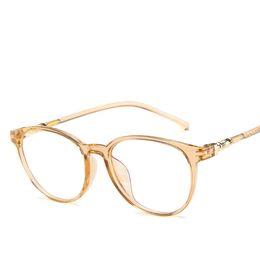 5ad9d8bcc2a Decoration Cat Eye Glasses Frame Women Fashion Ultra Light Transparent  Optical Eyeglasses Ladies Flat Clear Lens Eyewear