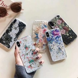 Discount sequin phone covers - Flower Foil Confetti Soft TPU Case For Iphone XR XS MAX X 8 7 6 6S Plus Sequin Flake Mandala Lace Henna Floral Paisley F