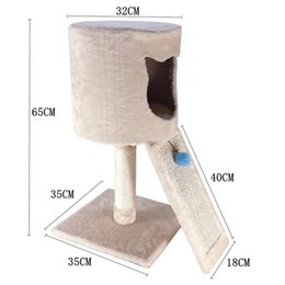 2c31483a70f6 ANITA-M63 Cat Activity Tree Bed Scratching Post ,Pet Furniture scraper  slope, Play House Condo,Cat Tree with Scratch Post OEM&ODM