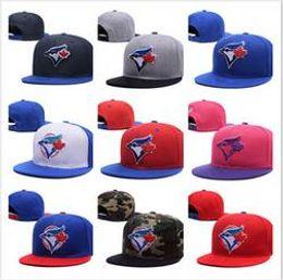2018 atacado mais novo moda Blue Jays snapback Bordado chapéus Homens mulheres Snapback Hat baseball Toronto Bola Caps Top Quality bone Headwear
