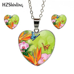 $enCountryForm.capitalKeyWord Australia - 2019 Hot Fashion Spring Flowers and Butterflies Theme Hand Craft Heart Jewelry Set Gifts for Women Heart Necklace Earrings Jewelry