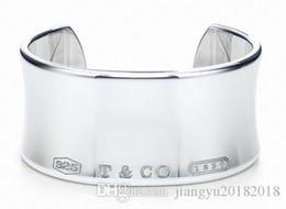 Jade diamond Jewelry online shopping - High Quality Celebrity design Silverware Silver Chain bracelet Women Letter Clover Wide bracelets Jewelry With dust bag Box