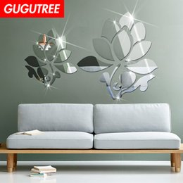 $enCountryForm.capitalKeyWord Australia - Decorate Home 3D flower leaf cartoon mirror art wall sticker decoration Decals mural painting Removable Decor Wallpaper G-357