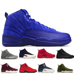 bc821e6ba637 12 12s Gym red WNTR mens Basketball shoes Michigan International Flight  College Navy Flu Game Wings UNC Taxi men sports sneakers designer