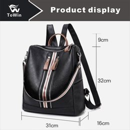 Shoulder Straps Backpack NZ - Newest Fashion Designer Backpack Women Backpacks For Shoulders Bag With Double Straps Zippers PU Fabric Bags Ladies Casual Travel Handbag