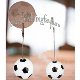 football places UK - 12PCS Sports Theme Football Place Card Holder Birthday Party Table Shower Anniversary Party Decors Name or Photo Clip
