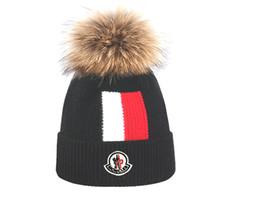 $enCountryForm.capitalKeyWord Australia - Natural Raccoon Fur Pompon Hat Winter for Women Cap Beanie Hats Knitted Cashmere Wool Caps Female bobble hats