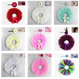 kids match tutu skirt 2019 - Baby Designer Clothes Tutu Photography Props Lovely Kids Clothes Newborn Costume Newborn Skirt Matching Flower Headband