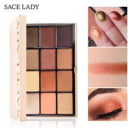 high pigment palette UK - Sace Lady High quality Shimmer Eyeshadow Palette Makeup Glitter Shadow Pallete Professional Matte Shadow Make Up High Pigment Nude Cosmetic