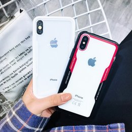 Iphone 6s Plus Case Clear Design Australia - Soft Clear Case for IPhone X XS MAX XR 8 7Plus 6S Anti Shock for Galaxy Note 9 8 S9 Plus S8 Cradle Design Phone Shell Cases Back Cover