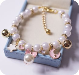 product accessories jewelry UK - Princess Pearl Pet Necklace Accessories For Puppies Dogs Cats Small Animals Wedding Jewelry Small Puppy Products For Yorkshire