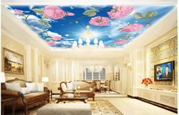 $enCountryForm.capitalKeyWord Australia - 3d ceiling murals wallpaper custom photo Rose, blue sky, white clouds painting home decor living room 3d wall murals wallpaper for walls 3 d