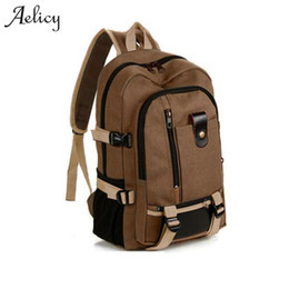 canvas string backpack NZ - Aelicy Travel Rucksack Multifunctional Travel Bucket Backpack Men Rugzak 3 Colors Canvas College Student School Backpack 2019 Y19061102