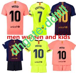 0fe696b45 2018 2019 FC Barcelona MESSI Soccer Jersey WOMEN third away pink man kits  18 19 20 Suárez DEMBELE COUTINHO football shirt top thai quality