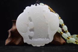 $enCountryForm.capitalKeyWord Australia - Fine Jewelry China New Hand Carved Natural White Jade Statue Pendant Free Necklaces Pisces Free Shipping