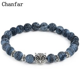lion charms gold UK - Leopard Tiger Eye Lion Head Bracelet Owl Buddha Bead Bracelets Bangles Skull Charm Natural Stone Bracelet yoga Jewelry Men Women