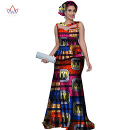 c237684346 Women Top And Mermaid Skirt Sets With Headtie Bazin Riche African Print  Dresses For Women 2 Pieces Skirts Sets Clothing Wy2812 Y19042901