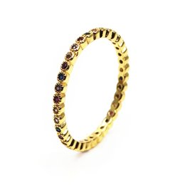 gift eternal love UK - Single polka dot rainbow ZC Ring pave mix colour zircon Eternal love ring hot selling lady ring