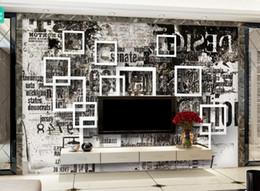 $enCountryForm.capitalKeyWord Australia - Custom Photo Mural Wallpaper Retro Box of graffiti letters Wall Painting Bedroom Living Room Sofa 3D Wall paper